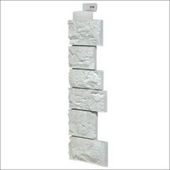 Наружный угол для фасадных панелей FineBer Камень дикий Мелованный белый