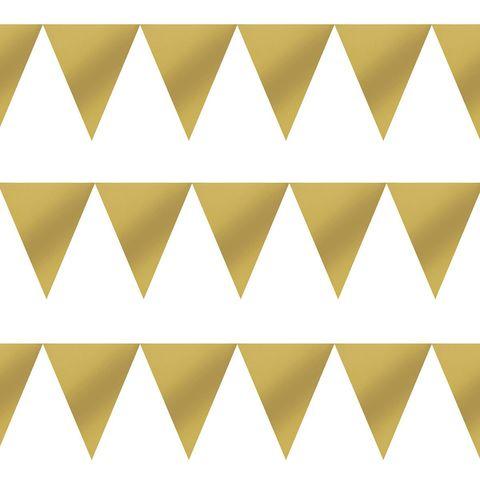 Гирлянда-вымпел блеск Золото 3м/G