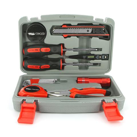 Набор инструментов Stinger  (NST128014) 13 инструментов в пластиковом кейсе серый