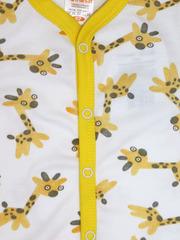 KotMarKot. Боди с длинными рукава и застежкой впереди интерлок Теплая Африка вид 2