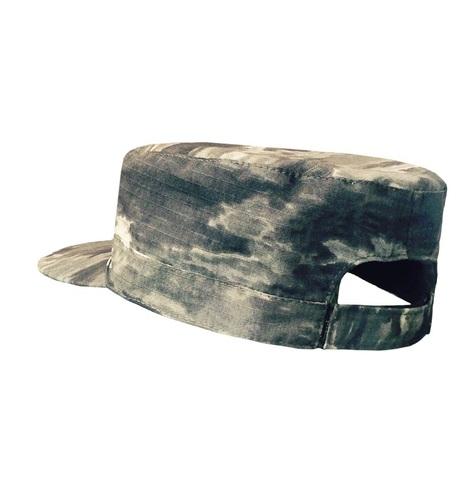 Кепка камуфляжная на липучке Милитари Серый РипСтоп
