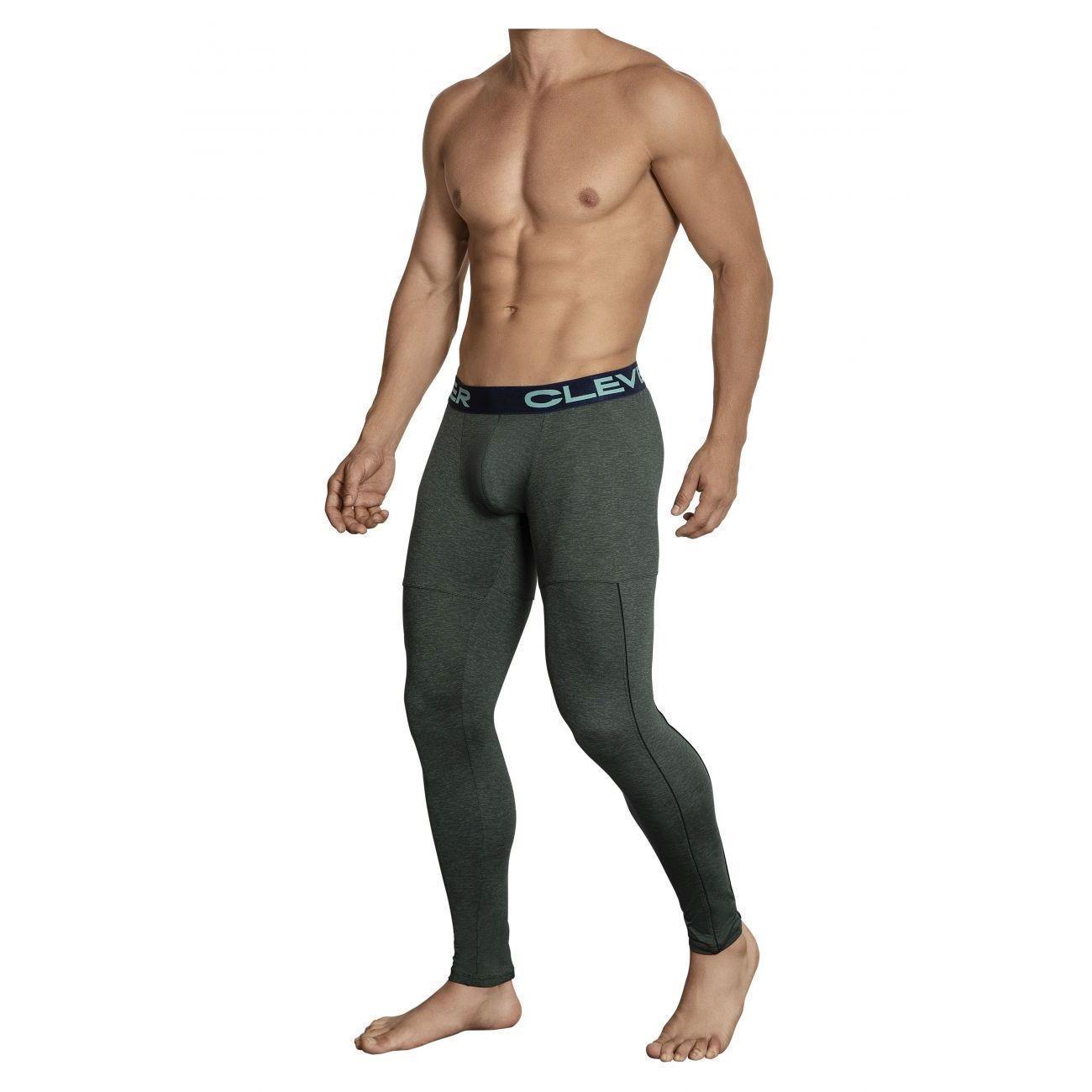 Мужские кальсоны серо-зеленые Clever Gordiano Long Pant 031410