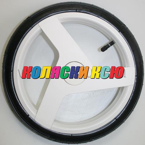 Колесо для детской коляски №003097 надув 12 дюймов (60-230) низкопрофильное ADAMEX (Адамекс) БЕЛЫЙ