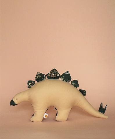 Стегозавр бежевый с зеленой броней