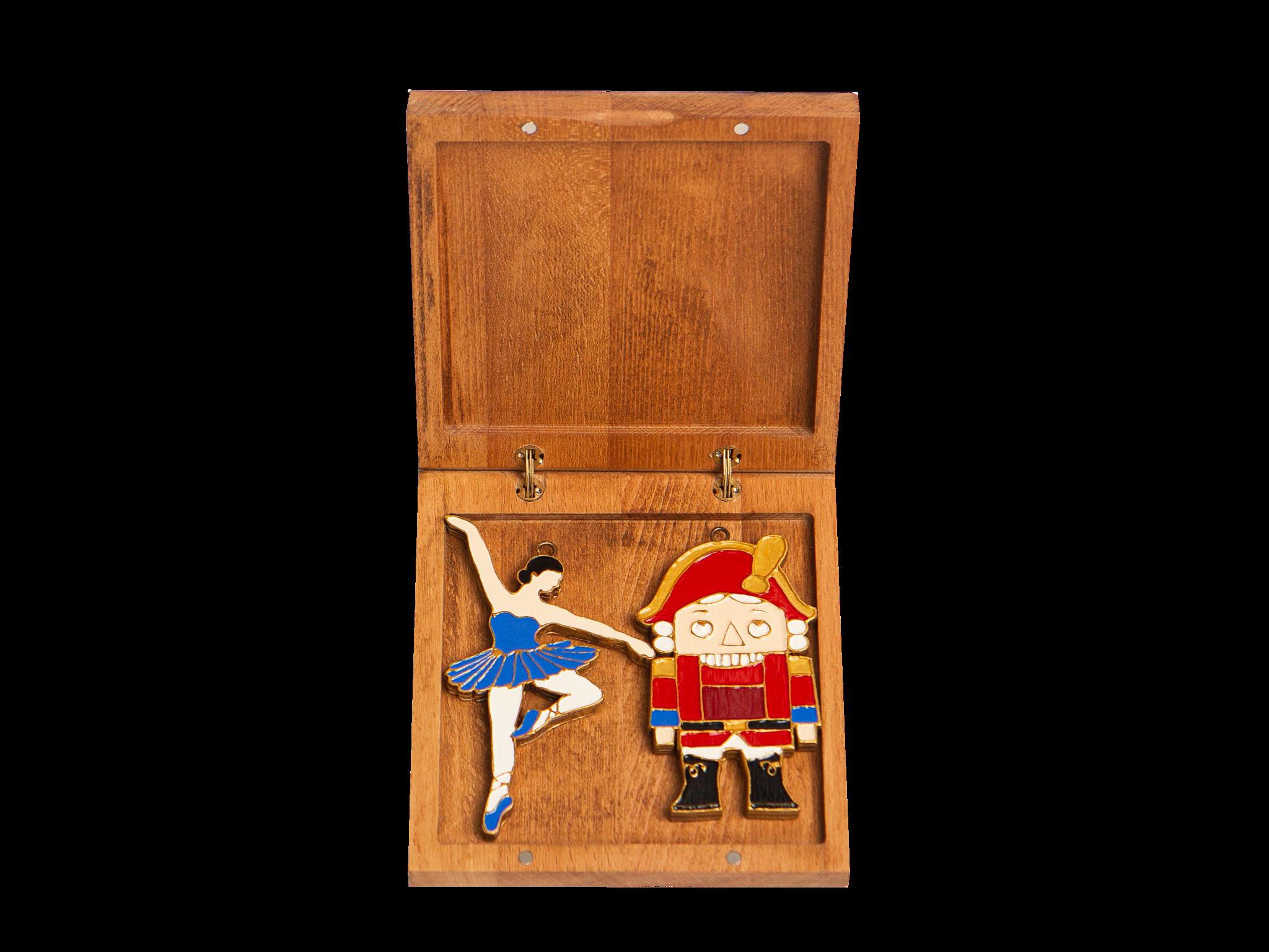 Подарочный набор из двух игрушек: Балерина, Щелкунчик
