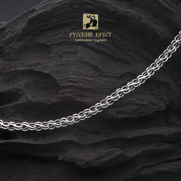 серебряная цепь 925 плетение Ручей.