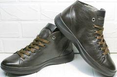 Теплые ботинки кроссовки мужские осенние Ikoc 1770-5 B-Brown.