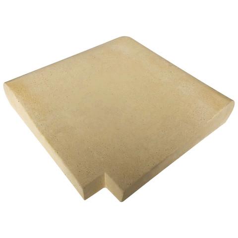 Прямой угловой копинговый камень Carobbio Expo, 390x390 мм (песочный) / 24497