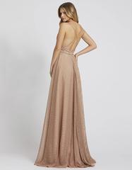 Длинное платье А силуэта в цвете Nude