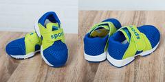Обувь дет. № 5 Детские Кроссовки  Спорт Синии с Салатовым