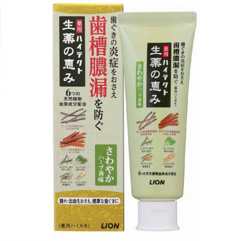 Зубная паста, Lion Япония, Hitect Seiyaku, для профилактики болезней десен, мята и эвкалипт, 90 г
