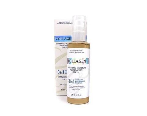 Enough Collagen Whitening Moisture Foundation тональный крем с коллагеном 3 в 1 для сияния кожи SPF 15, 21 тон