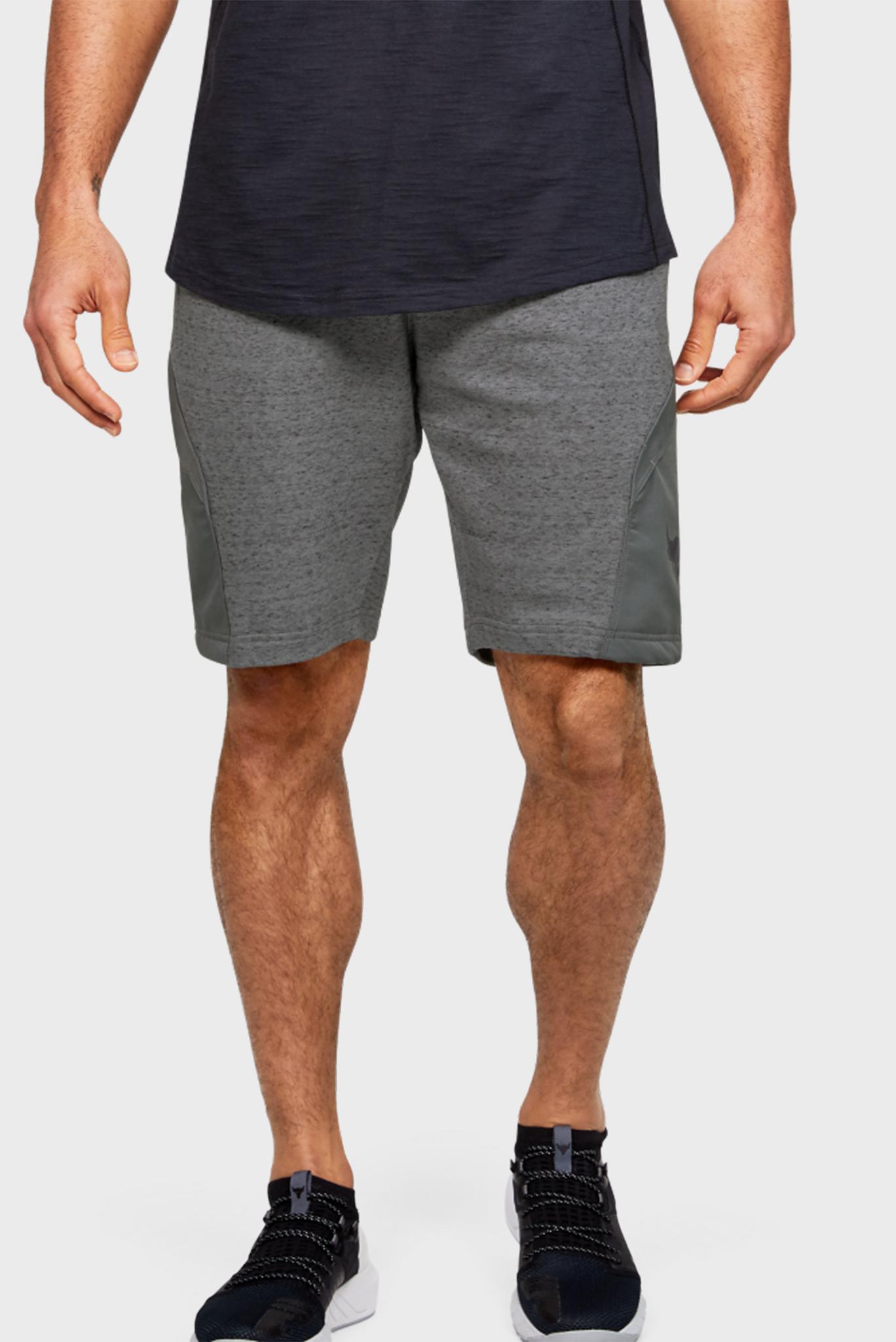 Мужские серые спортивные шорты Project Rock Terry Short Under Armour