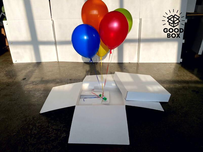 Самораскрывающаяся коробка для шаров