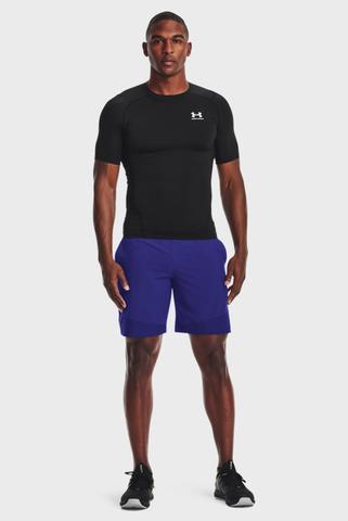 Мужская черная футболка UA HG Armour Comp SS-BLK Under Armour