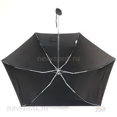 Плоский небольшой карманный зонт ArtRain черный