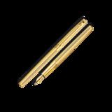 Перьевая ручка Carandache Madison Cisele GP (F) латунь позолота перо золото 18K (4690.272)