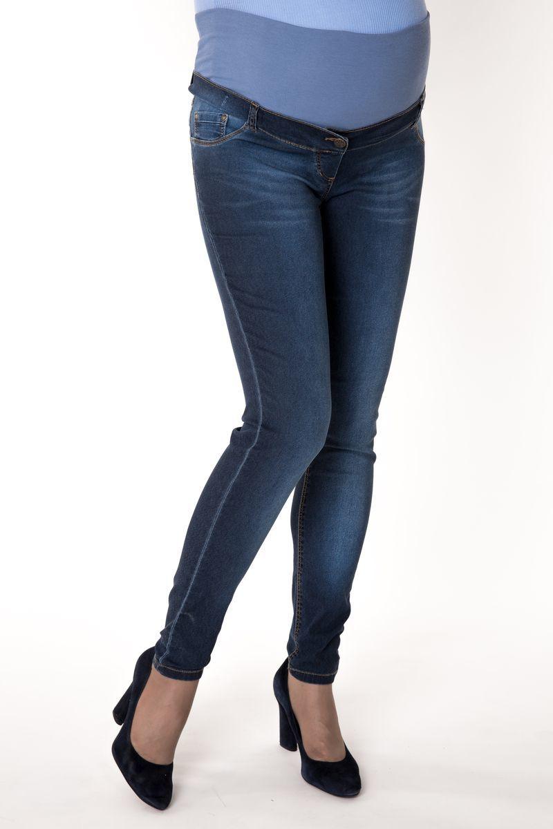 Фото джинсы-скинни для беременных MAMA`S FANTASY, зауженные, средняя посадка, высокая вставка от магазина СкороМама, синий, размеры.