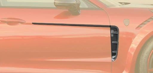 Карбоновые воздухозаборники крыла с дверной полосой Mansory Style для Porsche Panamera