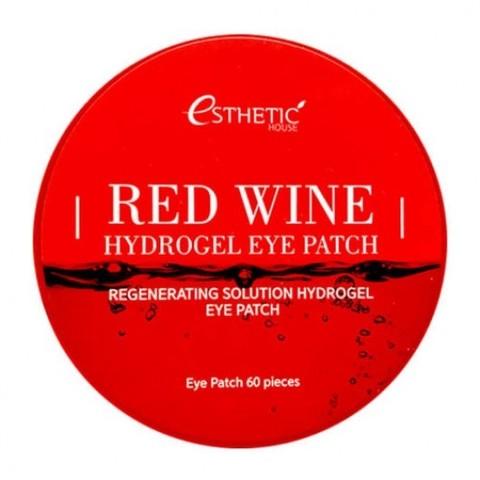Esthetic House Red Wine Hydrogel Eye Patch гидрогелевые патчи для кожи вокруг глаз с экстрактом красного вина