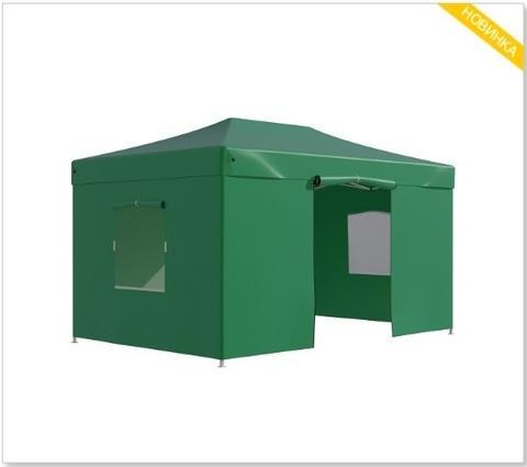 Тент-шатер быстросборный Helex 3x4,5х3м полиэстер зеленый