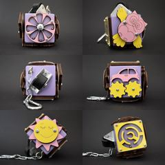 Бизикубик стандарт 5х5 см фиолетовый