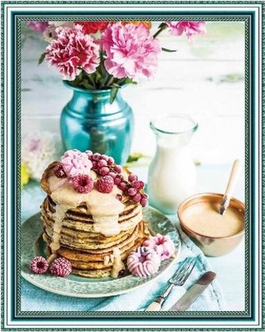 Алмазная Мозаика 40x50 Сладкий завтрак с молоком (арт. SGA2915 )