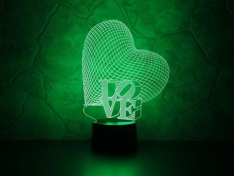 Ночник Сердце LOVE