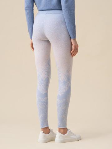 Женские брюки мультиколор из кашемира и вискозы - фото 3