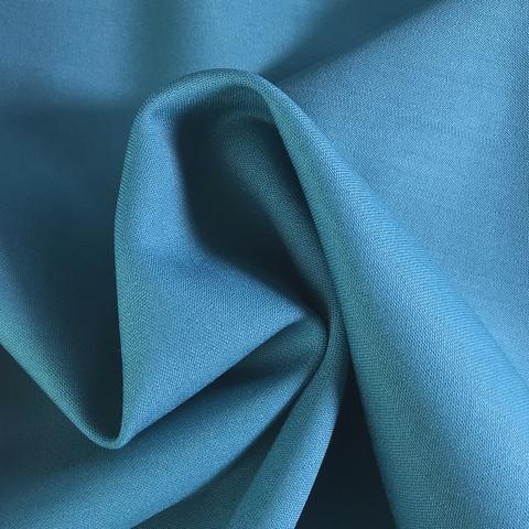 Ткань костюмно-плательная ткань цвет морской 3224