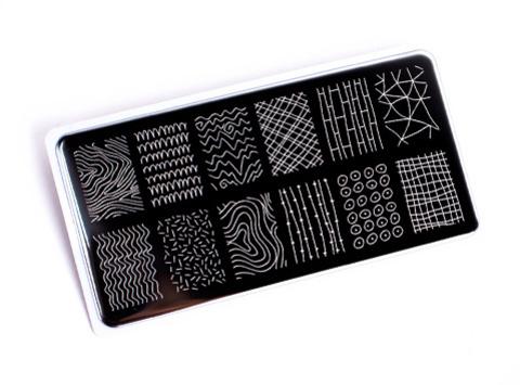 OTE-019 Пластина для стемпинга. Echo: Line Art #1