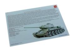 Конструктор 3D деревянный подвижный Lemmo Танк Т-34-85