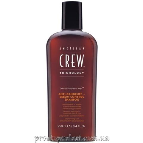 American Crew Anti Dandruff & Sebum Control - Балансуючий шампунь проти лупи для жирної шкіри