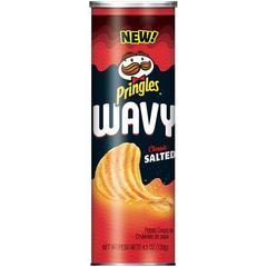 Чипсы Pringles Wavy salted Принглс рифлёные с солью 130 гр