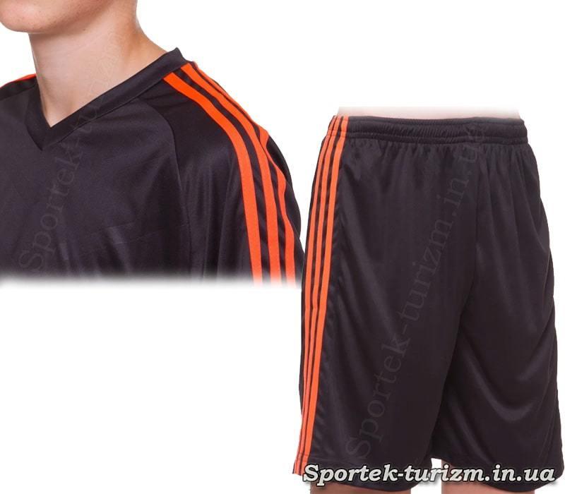 Футболка и шорты футбольной формы SP-Sport Glow CO-703B_BK