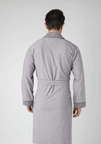 Халат  мужской облегченный  20695 серый Nusa Турция.