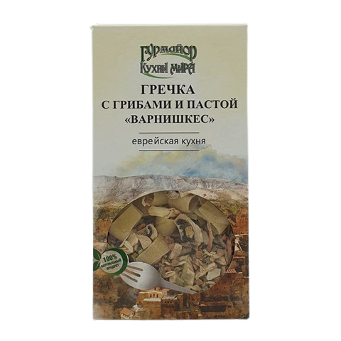 Гречка с грибами и пастой Варнишкес ГУРМАЙОР, 210 гр