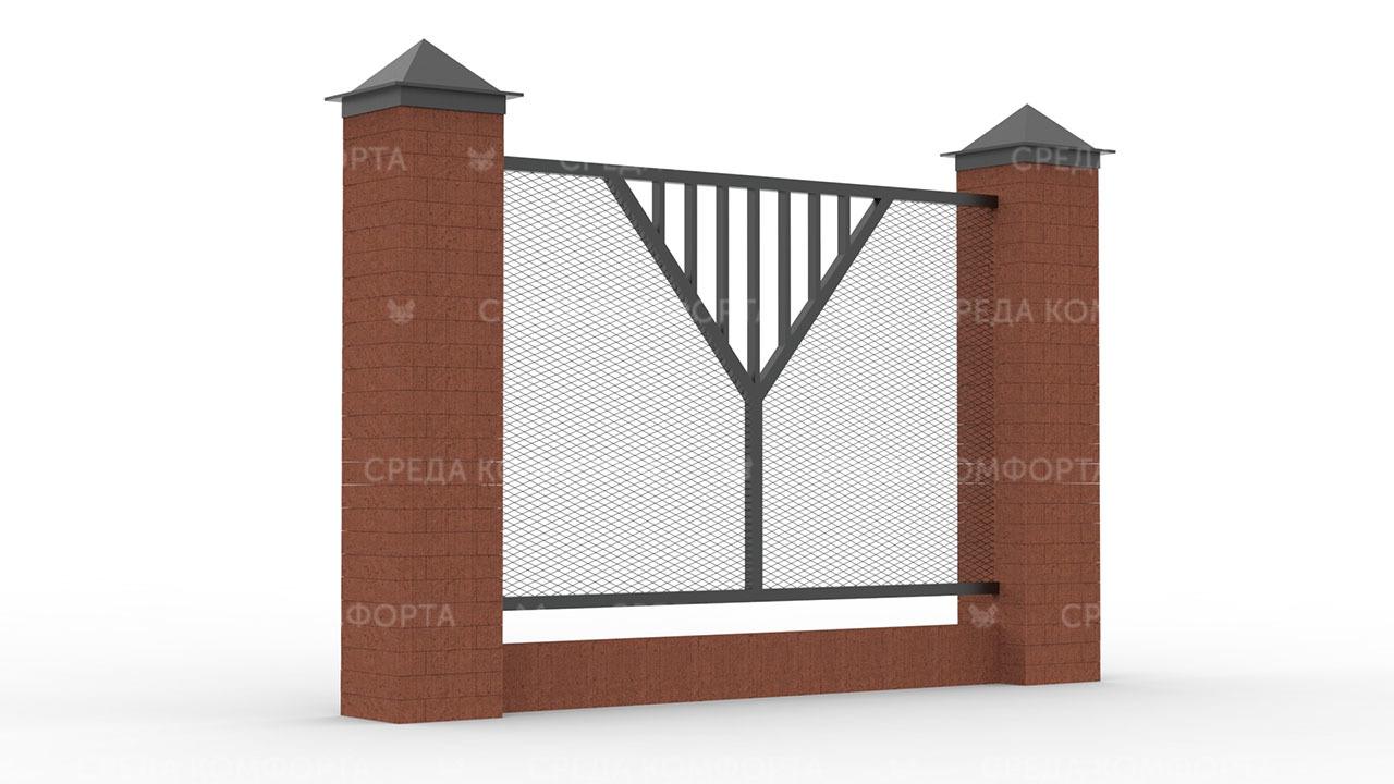 Забор из сетки рабицы ZBR0183