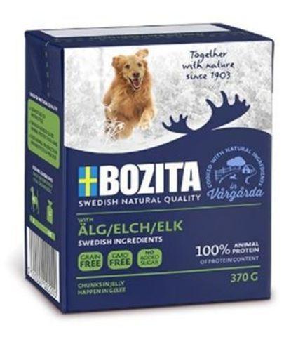 4255 BOZITA Naturals Elk кон.д/собак Кусочки в желе с мясом Лося 370гр*16