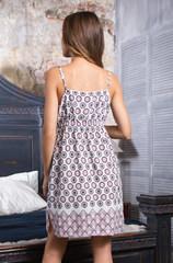 Платье летнее белый орнамент