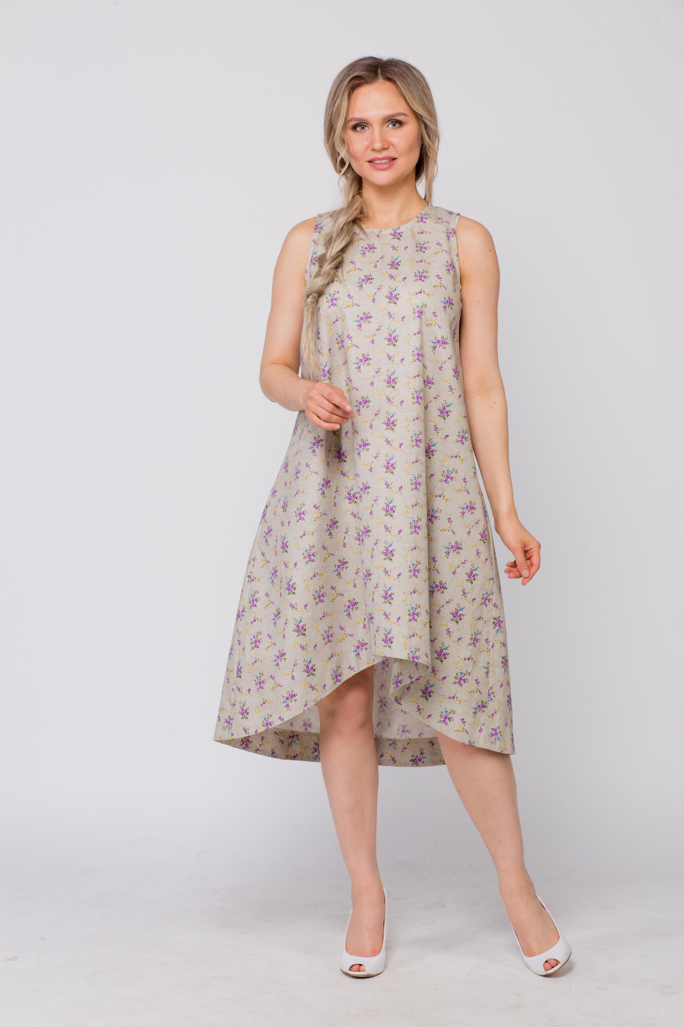 Платье льняное Очарование