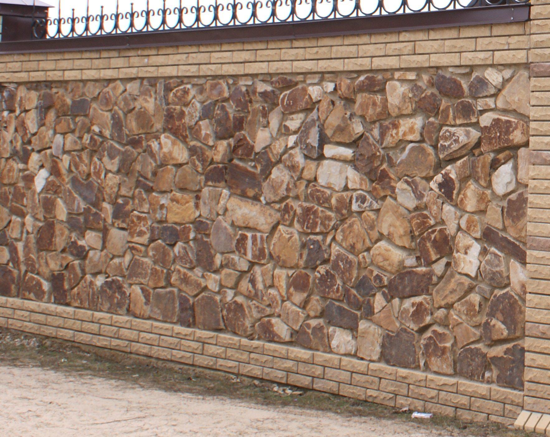 Бутовый камень кладочный Кантри забор