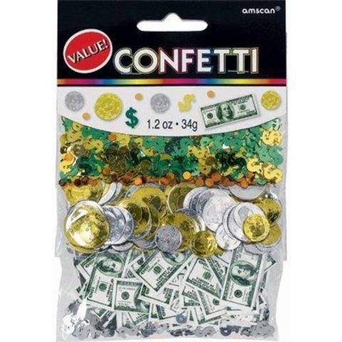 Конфетти Доллары 3 вида 34гр/A