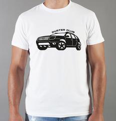 Футболка с принтом Рено (Renault) белая 002