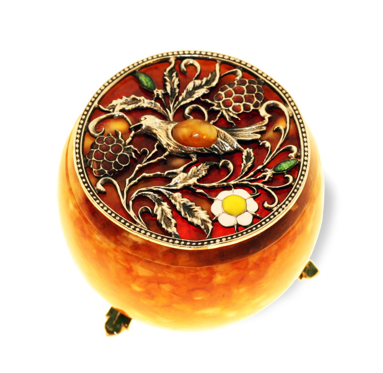 Шкатулка из янтаря «Малиновка»