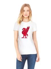 Футболка с принтом FC Liverpool (ФК Ливерпуль) белая w002