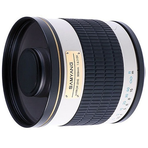 Объектив Samyang 500mm f/6.3 MC IF Mirror Lens T2 Mount White для 4/3