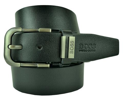 Ремень мужской чёрный Hugo Boss (копия) 40brend-KZ-007