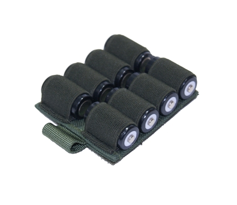 Холдер для аккумуляторов на 8 аккумуляторов (16340/18650) на контактной ленте (велкро)