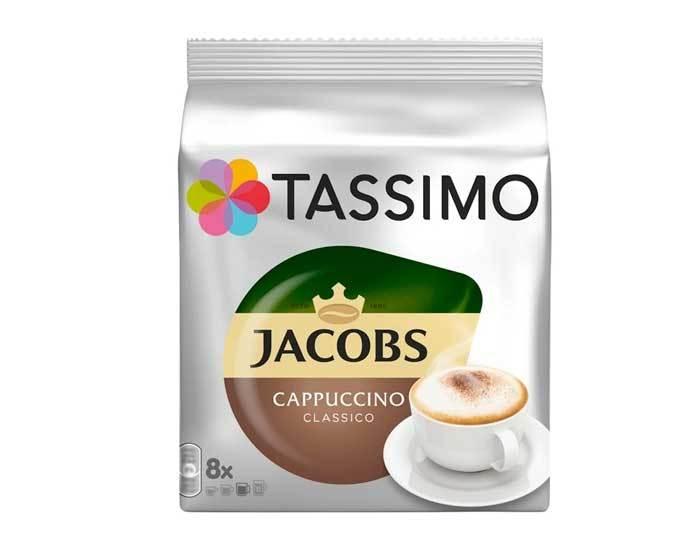 Кофе в капсулах Jacobs Cappuccino Classico, 8 капсул для кофемашин Tassimo